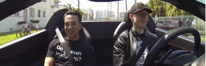 Deadmau5 & Laidback Luke Cruise South Beach On A Coffee Run