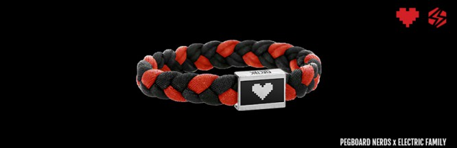 Pegboard Nerds And Electric Family Create Bracelet for Charity