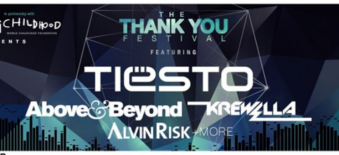 Win Tickets To 'The Thank You Festival' Featuring Tiesto, Above & Beyond, Krewella & More!