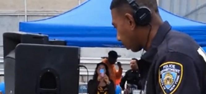 Watch NYPD Officer DJ In Uniform