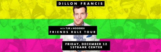 Meet And Greet Dillon Francis At His 1STBANK Center Performance on 12/12