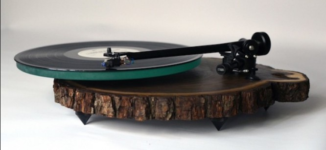 New Eco-Friendly Turntables Use Hardwood To Spin Music