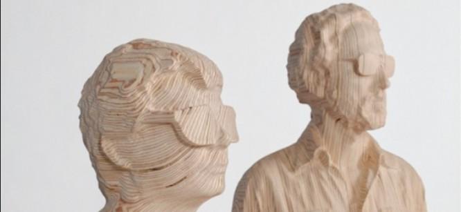 Artist Makes Helmet-Less Daft Punk Sculptures