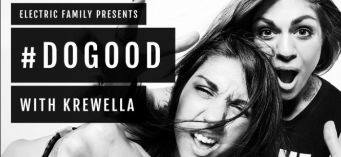 Krewella Paints A Mural With Fans For Charity