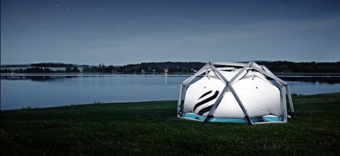 Futuristic Inflatable Tents For Easier Festival Camping