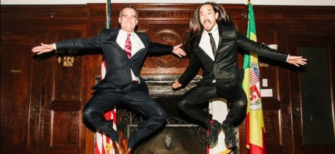 Steve Aoki Teams Up With Mayor Of LA For Free Concert