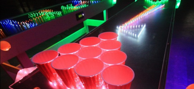 Inventor Builds Interactive LED Beer Pong Table
