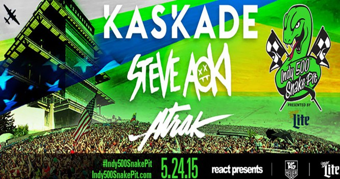 Win Tickets to Indy 500 Snake Pit with Kaskade, Steve Aoki, A-Trak, And More