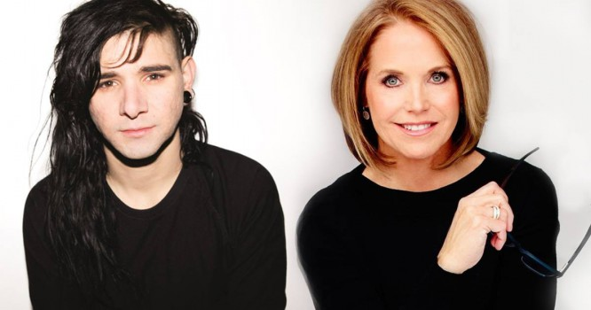 Skrillex Hits The Studio With Katie Couric