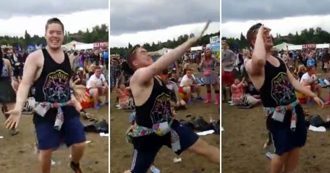Check Out The Viral Video That Made This Festival-Goer Famous