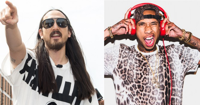 Steve Aoki Teams Up With Tyga To Throw World's Biggest Pizza Party