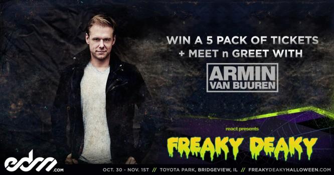 Enter to Win 5 Tickets To Freaky Deaky & Meet N Greet With Armin Van Buuren!