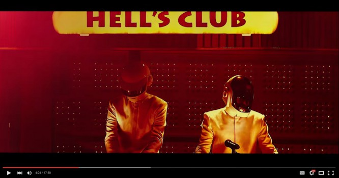 Daft Punk DJing In Hell's Club - This Video Will Blow Your Mind
