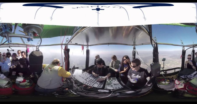 DJ Performs 2,000 Feet Above Ground in a Hot Air Balloon [360 VIDEO]