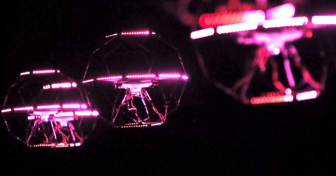 Watch Drones Create a Mesmerizing Aerial Light Show