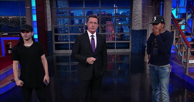 Watch Skrillex & Chance the Rapper Remix Stephen Colbert [VIDEO]