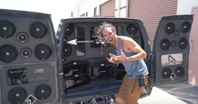 Vlogger Decks Out Van With $3000 Speaker Set-Up