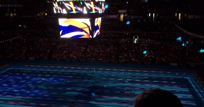 Bassnectar Soundtracked USA Swimming Olympic Trials Light Show [VIDEO]