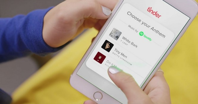Spotify Partners With Tinder to Share Music Taste With Your Matches