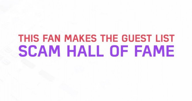 This Fan Makes the Guest List Scam Hall of Fame [WATCH]