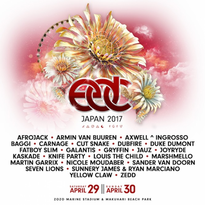 Dubfire, Marshmello, Martin Garrix, & More are Heading to EDC Japan