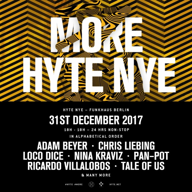 HYTE Berlin Announces New Year's Eve Blowout at Funkhaus